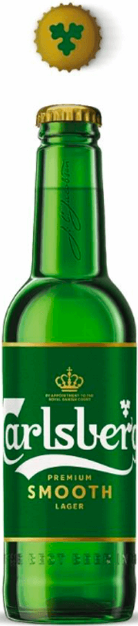 bottle of Carlsberg Smooth lager beer