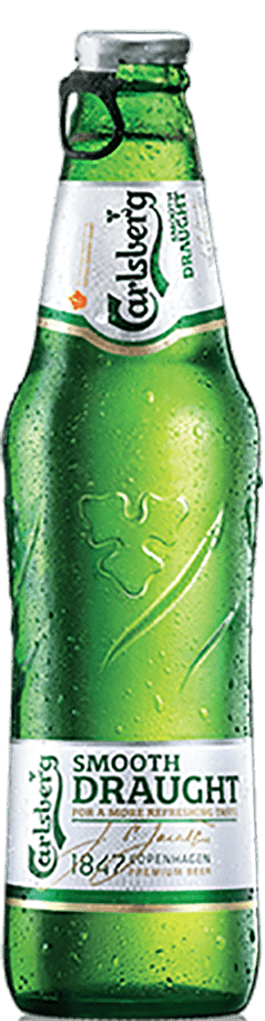 bottle of carlsberg smooth draught beer