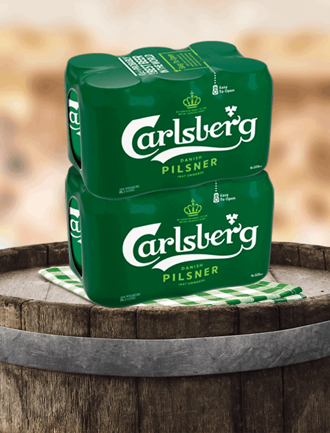 Enjoy Carlsberg at Hyper and Supermarkets