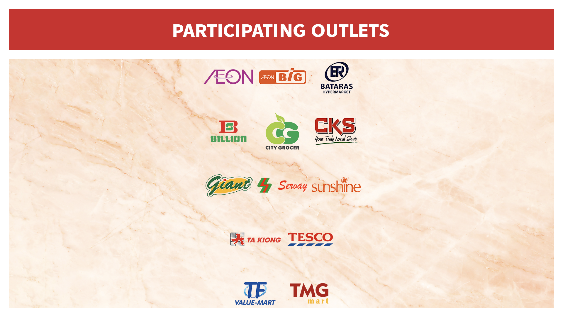 Participating Outlets